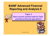 B408F Topic 4 Non current assets held for sales (2012)