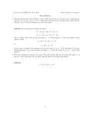 MATH251 QUIZ1 SOLUTION