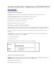 Student Exploration- Vectors (ANSWER KEY).docx - Student ...
