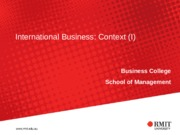 lectureIB Topic 1 International Business and Globalisation