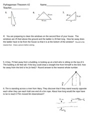 pythagorean theorem word problems with answers pdf