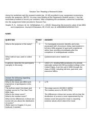 Reading a Journal Article Worksheet_Session 2