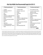 Aliso Viejo Middle School Recommended Supply Lists 2012-13 (3).docx