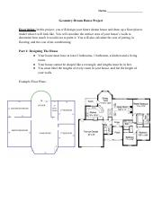 Geometry Dream House Project Pdf Name Geometry Dream House Project Description U200b In This Project You Will Design Your Future Dream House And Draw Up Course Hero