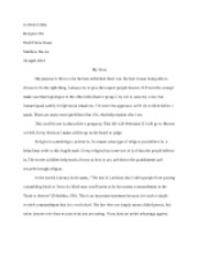 Rel203 World view essay