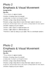 emphasis visual movement guidelines