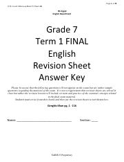 1718-Term 1 Final Grade 7 English Class Reader Revision sheet AK.pdf