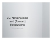 20. Nationalisms and Almost Revolutions