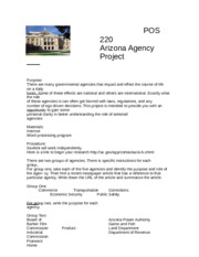 AZ Government Agency Project