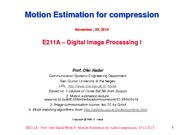 20.Motion Estimation for video compression