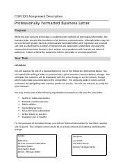 COM 320 Business Letter Instructions.docx