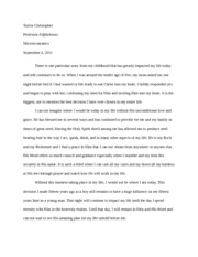 Microeconomics Personal Story