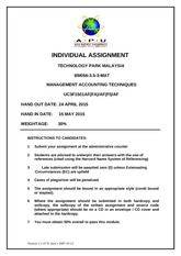 Assignment-Cover - UCTI BUS Level 3 MAT1410MS