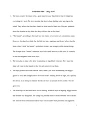 Lord of the Flies - CH 2 Notes