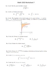 worksheet1 math 1910 worksheet 1 selected solutions solution to problem 1 for x 2 f x x3 cx thus. Black Bedroom Furniture Sets. Home Design Ideas