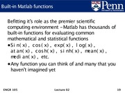 Lec02 - Machine model, Matlab introduction, and arrays.19