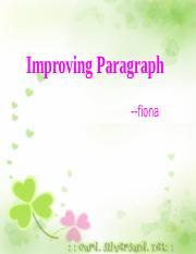 Improving Paragraph