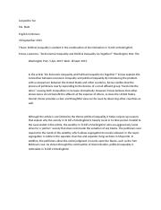 Political Inequality Annotated Bibliography