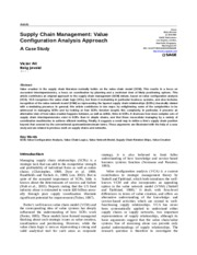 001_Supply Chain Management- Value Configuration Analysis Approach