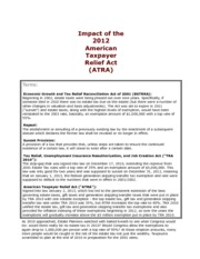 Impact of the 2012 American Taxpayer Relief Act (ATRA)