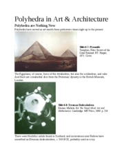 Polyhedra in Art