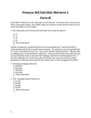 Mid-term 1 Fall 2012 Form B Solutions