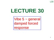 Lecture 30 (Vibe 5 ~ general damped forced response)
