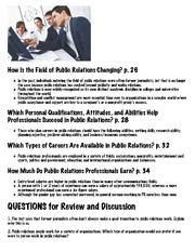Summary | Chapter 02 | Public Relations | ThinkSpot | Pearson