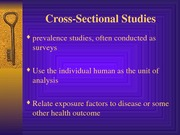 HED 343 Cross-Sectional & Case-Control Studies