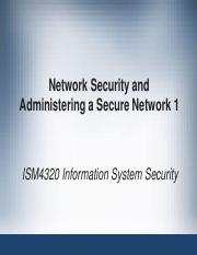 Week7_Network Security and Administering a Secure Network