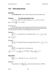 Calculus II Notes 12.5