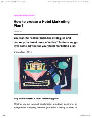 How to create a Hotel Marketing Plan?.pdf