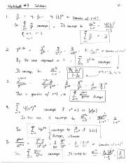 Worksheet 7 Solutions