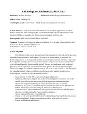 Cell Biology and Biochemistry - outline.docx