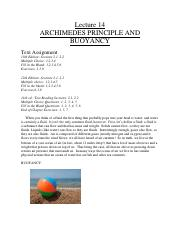 L14-Archimedes Buoyancy
