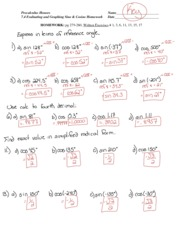 Section 8.4 Homework Answer Key - Precalculus Honors 8.4 ...