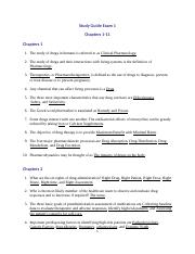 Study Guide 1-11 (2)