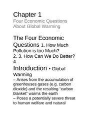 Econ 277(notes)Ch1 global warming