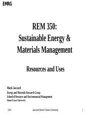 REM 350 Res and Uses Lec 2016