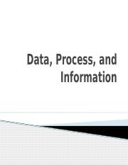 Data, Process, and Information