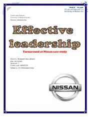 effective leadership case study