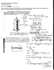 Exam 2 Solution Sprign 2008 on Mechanics of Materials