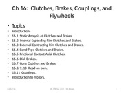 Ch 16  Clutches and Brakes