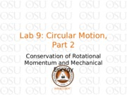 Lab 9 Circular Motion part 2