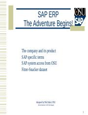 OSU-SAP Introduction