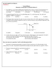 Kinematics Concept Quiz 9_VERSION C