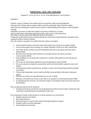 Pediatric Exam I - Study Guide.docx