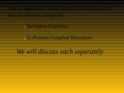 Receptor Enzymes etc Power Point 2013