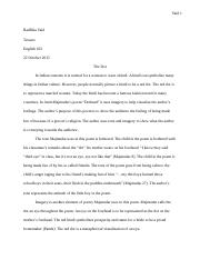 Poetry Essay rought draft 1