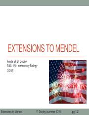 08 Extensions to mendel after class update